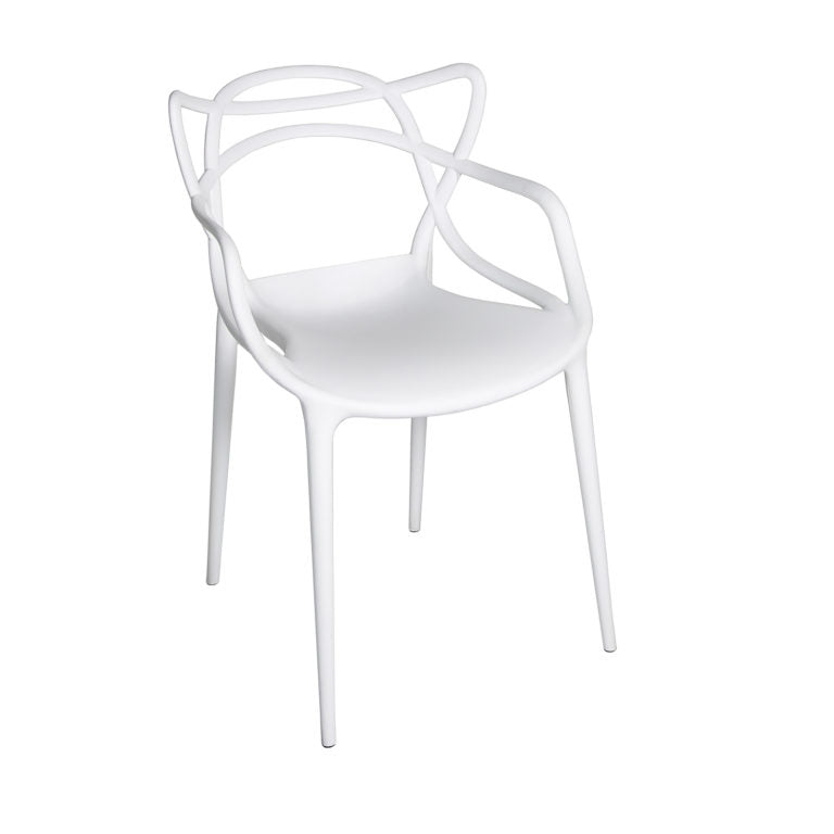 Zante Matte White Chair
