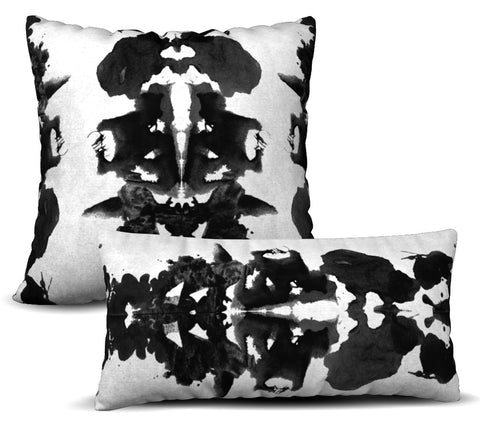 Rorschach - Noir Pillow Cover