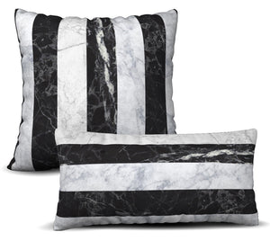 Jeweled Stripe - Noir Pillow Cover