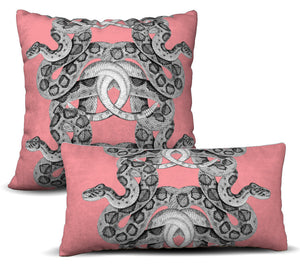 Scaled - Rose Pillow Cover