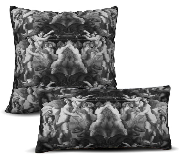 Galatea - Noir Pillow Cover