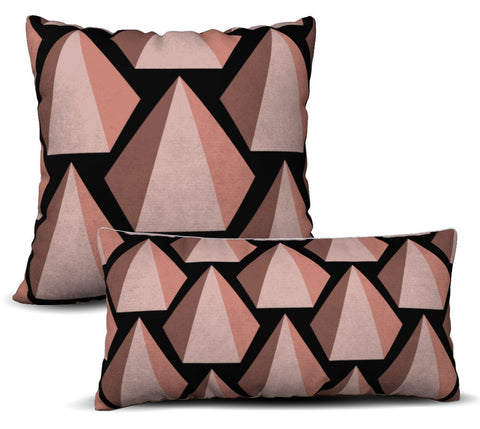 Uxmal - Noir Pillow Cover