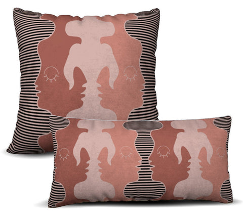 Two Faced - Rosado Pillow Cover