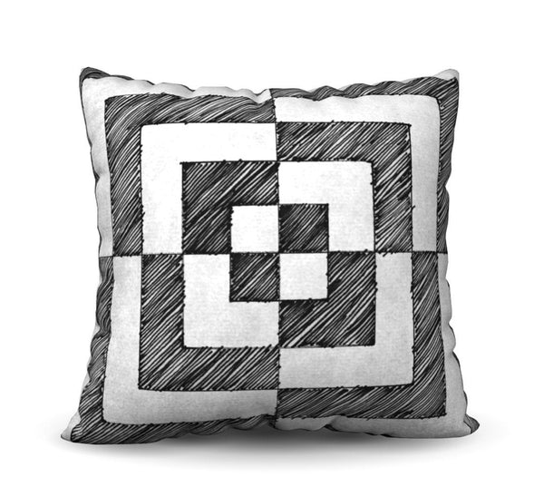 Rubic - Noir Pillow Cover