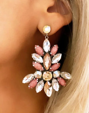 Pink & Silver Mariah Earrings