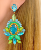 Turquoise and Green Nadia Earrings