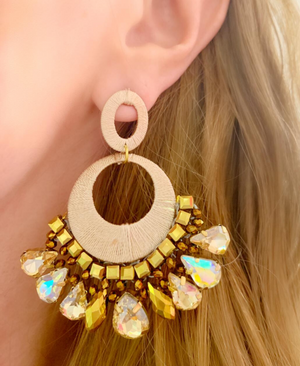 Gold Fleur Earrings
