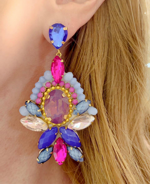 Blue & Pink Nadia Earrings