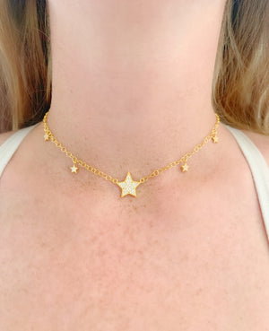 Multi Stars Circle Chain/Choker