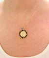 Black Big Sun Necklace