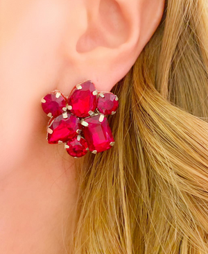 Red Eda Earrings