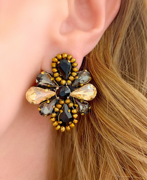 Black and Gold Isla Earrings