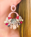 Pink Fleur Statement Earrings