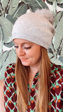 Light Grey Beanie with Pompom