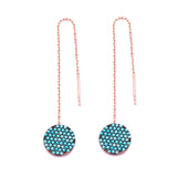 Turquoise Circle Chain Earrings