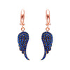 Navy Wings Earrings