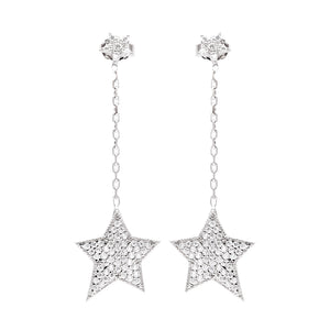Funky Star Chain Earrings