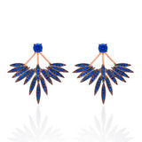 Crystal Feather Earrings