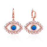 Blue Eye with Lashes Earrings
