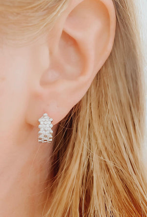 Bubble Huggie Hoop Earrings