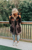 The City Parka in Black & Blush