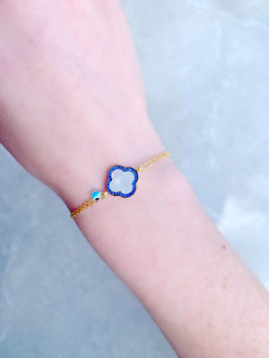 Navy Mother of Pearl Bracelet
