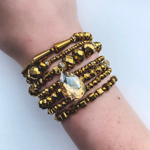Gold Georgia Wrap Bracelet