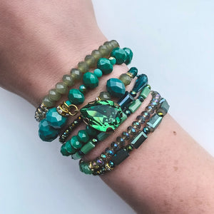 Green Georgia Wrap Bracelet