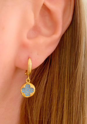 Set in Clover Earrings