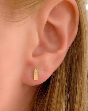 Mini Line Stud Earring
