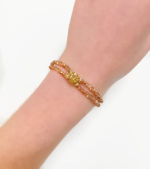 Rose Gold Double Crystal Bracelet