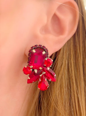 Red Piper Earrings