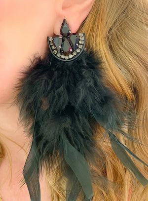 Black Fauna Earrings