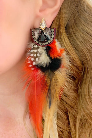 Red & Black Fauna Earrings