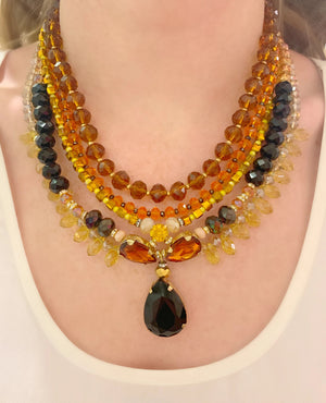 Black & Amber Milano Necklace