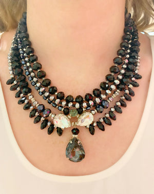 Black & Silver Milano Necklace