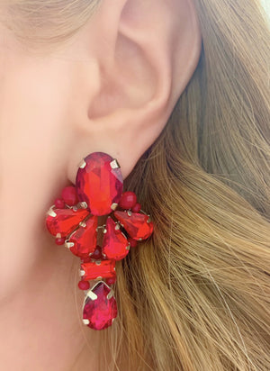 Red Amerata Earrings