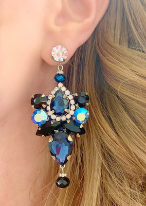 Navy & Black Vera Earrings