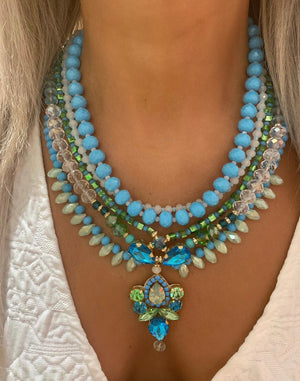 Green & Turquoise Milano Necklace
