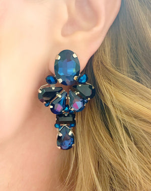 Navy & Black Amerata Earrings