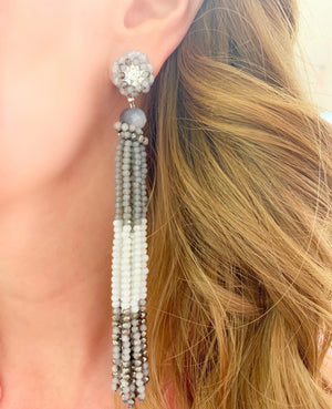 Grey & White Zoe Earrings