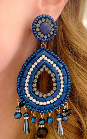 Navy & Black Sofia Earrings