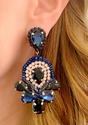 Navy & Black Lydia Earrings