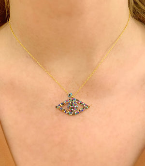 Rainbow Angel Eye Necklace