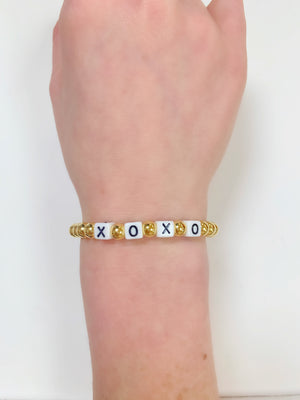 XOXO Sterling Silver Beaded Bracelet