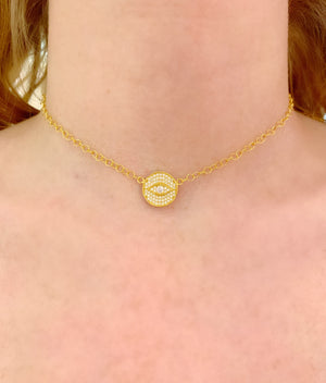 Eye Circle Chain Necklace