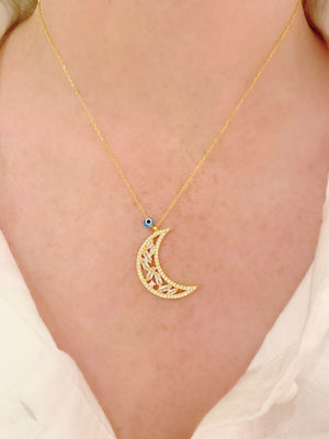 Baguette Moon Necklace
