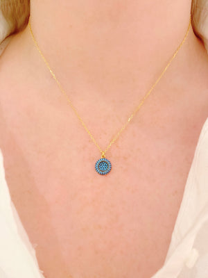 Turquoise Full Circle Necklace