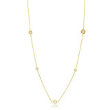 Navy Long Glint Necklace