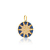 Navy Mini Big Sun Charm